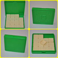 15 Logic Game - Sliding Fifteen Tiles Numbers Puzzle Kids Toy Plastic Green Box