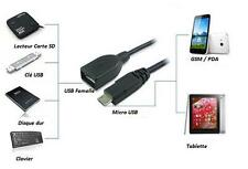 Micro USB OTG USB 2.0 Micro-B Cable adapter Samsung Galaxy S2 S3 S4 S5 S6 TAB4