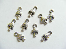 20 Small Metal Antique Silver Mushroom Charms/Pendants - 13mm