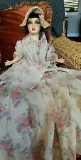 AMAZING ANTIQUE PAINTED COMPOSITION FRENCH? BOUDOIR DOLL ALL ORIGINAL