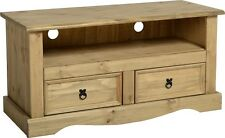 TV Stand Unit Solid Pine Corona Rustic with Drawers and Shelve