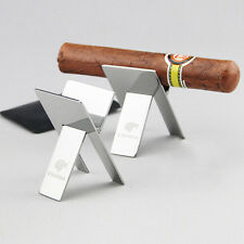 Cohiba Stainless Steel Foldable Ashtray Showing Cigarette Cigar Stand Holder