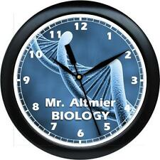 Personalized Biology Teacher  Gift  DNA Wall Clock