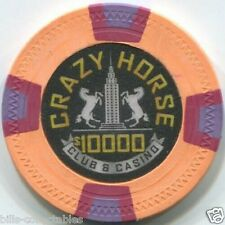 12 color set 10 gm Clay CRAZY HORSE CLUB poker chip sample set #238