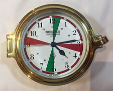 WEMPE Marine Clock -  BRASS - Made in Hamburg GERMANY