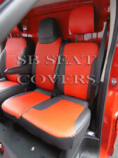 VAUXHALL VIVARO SPORTIVE 2015 VAN SEAT COVERS RED LEATHERETTE MADE TO MEASURE