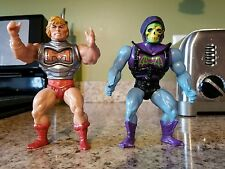 VINTAGE ACTION FIGURE LOT MOTU SKELETOR BATTLE ARMOR HEMAN MATTEL 1983 HE MAN