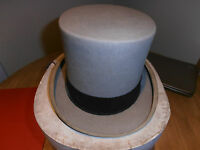 Vintage 1970's  Lock & Co Ascot Grey Top Hat size 6 7/8