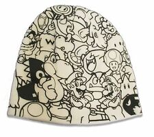 "SUPER MARIO ""B & W CHARACTERS"" BASEBALL CAP HAT NEW OFFICIAL NINTENDO"
