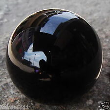 BEAUTIFUL NATURAL OBSIDIAN POLISHED BLACK CRYSTAL SPHERE BALL 100MM +STAND GIFT