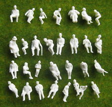 P8706B 90pcs 1:87 All Seated UnPainted White Figures Passenger HO Scale