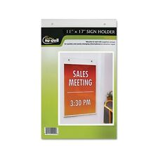 Nu-Dell Clear Plastic Sign Holder - 38017Z