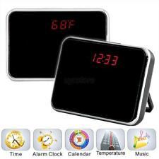 5MP Hidden Camera Video Motion Detection Alarm LED Clock Mini DV Remote