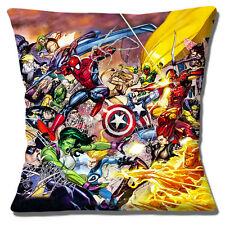 "NEW CAPTAIN MARVEL COMIC BOOK SPIDERMAN ACTION HEROES  16"" Pillow Cushion Cover"