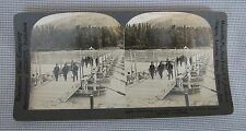 18079 Keystone Stereoview Of WWI 'Pontoon Bridge In France'