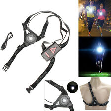 USB Rechargeable Night Running Flashlight Chest Lamp Torch IP65 F Outdoor Sports