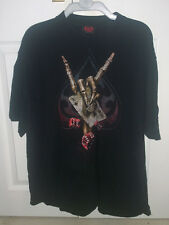 Spiral direct squelette main carte dice rock en métal gothique diable t-shirt xl 48