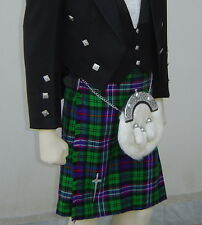 Scottish | Scottih National Tartan Heavy Kilt & Kilt Pin | Geoffrey