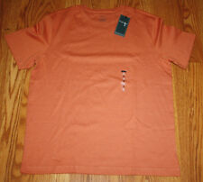 NWT Mens VAN HEUSEN Ginger Spice Orange Crew Neck Short Sleeve T Shirt L Large