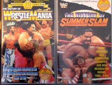 WWE 2-pack History of Wrestlemania & Summerslam ORIG 2 VHS Set WWF Wrestling