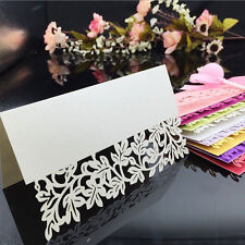 50pcs Leaf Laser Birthday Wedding Party Table Name Place Cards Holder Decoration