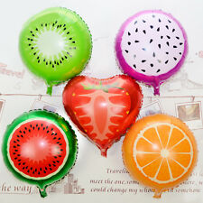 2Pcs New Foil Helium Fruit Healthy Tropical Smoothie Balloon Decor Party Supply
