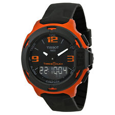 Tissot T-Race Touch Black Dial Orange Rubber Mens Watch T0814209705703