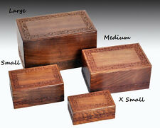 Brand New Economy Wooden Urn - Small, Rosewood,Hand Carved, Free Shipping