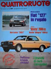 Quattroruote 258 1977 Prove Alfetta 2000cc e Austin Allegro 1100cc. Mercedes Q93