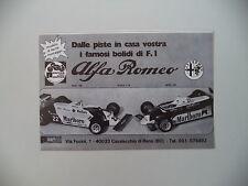advertising Pubblicità 1983 ALFA ROMEO F1 FORMULA 1 PROTAR