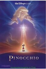 PINOCCHIO MOVIE POSTER DS Disney Animation R92 Autographed By Artist JOHN ALVIN