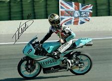 Danny KENT SIGNED MOTO2  AUTOGRAPH 16x12 Photo AFTAL COA Leopard Racing