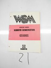 KUBOTA GENERATOR WORKSHOP MANUAL.'85 G5500S
