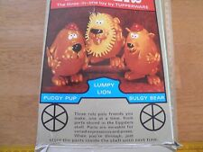Eggsters Tupperware Toys in box Vintage 1960's HTF Lumpy Lion Bulgy Bear