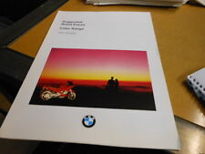 NOS NEW Vintage Brochure BMW 1994 Motorcycle Color Range Retail Prices