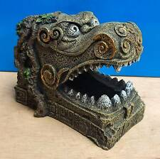 Fish Tank Aquarium Decoration Serpent Head Oriental Hide Cave Ornament New