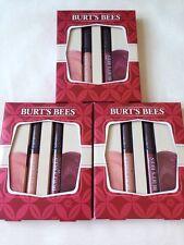 6x Burt's Bees Party Lips Neutral Lip Gloss Autumn Haze & Sweet Sunset Nude Pink