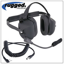 Rugged Radios H43 Headset with KENWOOD coil cord NASCAR IMSA Racing Electronics