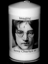 Cellini Candle Cards John Lennon  personalised birthday gift with own message #6