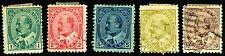 CANADA USED & UNUSED 1903-08 KING EDWARD VII SCOTT 89-93 POSTAGE STAMPS