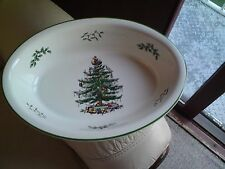 SPODE CHRISTMAS TREE Large Deep Oval Vegetable Baker Open Serving Bowl Dish