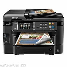 Epson WF-3640 wireless Inkjet All-In-One Color Printer Scanner Fax High Speed