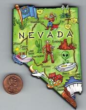 NEVADA NV  ARTWOOD STATE MAP MAGNET  CARSON CITY  RENO LAS VEGAS  LAKE TAHOE