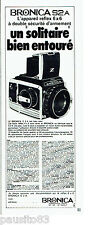 PUBLICITE ADVERTISING 016  1971  BRONICA  appareil photo Reflex S2 A