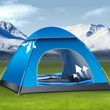 4 Person Portable Waterproof Instant Pop Up Tent Camping Beach Shelter Canopy