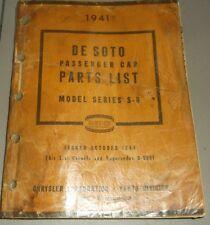 1941 DE SOTO PARTS LIST ORIGINAL MANUAL S8
