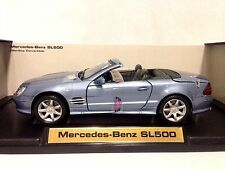 2002 Mercedes Benz SL500,Collectibles 1:18 Scale, Diecast MotorMax Toys, Blue