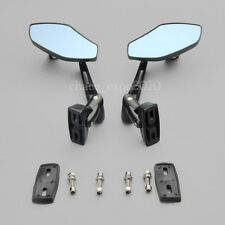 Black Aluminum Rearview Side Mirrors Motorcycle Sports Street Bike Custom Racing