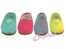 """Pink Canvas TOMS shoes for American Girl  or 18"""" Dolls 8"""