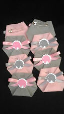 30PC Baby Shower Dirty Diaper Game Elephant Girl Theme Pink and Grey